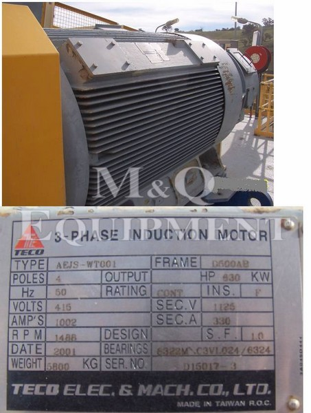 630 KW / TECO / Electric Motor