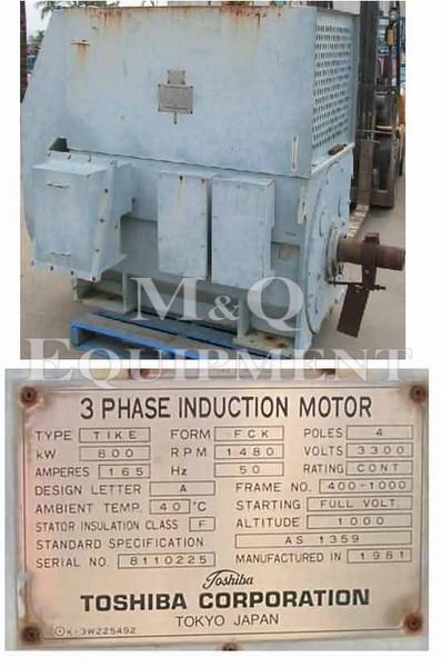 800 KW / TOSHIBA / Electric Motor